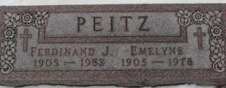PEITZ, FERDINAND J. - Cedar County, Nebraska | FERDINAND J. PEITZ - Nebraska Gravestone Photos