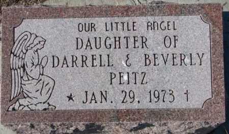 PEITZ, INFANT DAUGHTER - Cedar County, Nebraska | INFANT DAUGHTER PEITZ - Nebraska Gravestone Photos