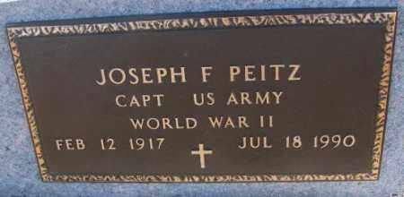 PEITZ, JOSEPH F. (WW II) - Cedar County, Nebraska | JOSEPH F. (WW II) PEITZ - Nebraska Gravestone Photos