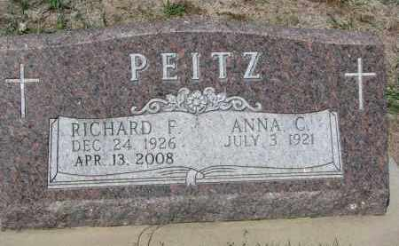 PEITZ, RICHARD F. - Cedar County, Nebraska | RICHARD F. PEITZ - Nebraska Gravestone Photos