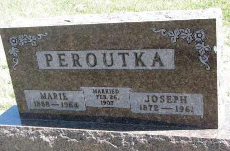 PEROUTKA, MARIE - Cedar County, Nebraska | MARIE PEROUTKA - Nebraska Gravestone Photos