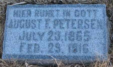 PETERSEN, AUGUST F. - Cedar County, Nebraska | AUGUST F. PETERSEN - Nebraska Gravestone Photos