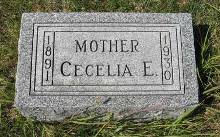 PETERSEN, CECELIA E. - Cedar County, Nebraska | CECELIA E. PETERSEN - Nebraska Gravestone Photos