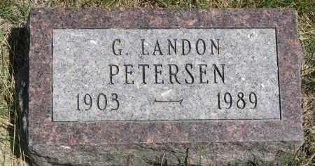 PETERSEN, G. LANDON - Cedar County, Nebraska   G. LANDON PETERSEN - Nebraska Gravestone Photos