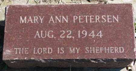 PETERSEN, MARY ANN - Cedar County, Nebraska | MARY ANN PETERSEN - Nebraska Gravestone Photos