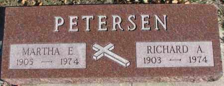 PETERSEN, RICHARD A. - Cedar County, Nebraska | RICHARD A. PETERSEN - Nebraska Gravestone Photos