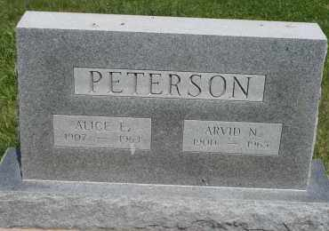 PETERSON, ARVID N - Cedar County, Nebraska | ARVID N PETERSON - Nebraska Gravestone Photos
