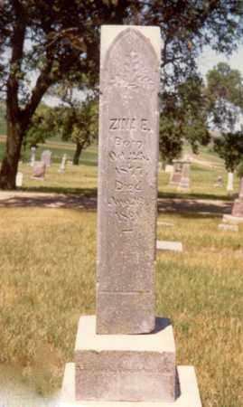 "PETERSON, ALZINA ""ZINA"" E. - Cedar County, Nebraska   ALZINA ""ZINA"" E. PETERSON - Nebraska Gravestone Photos"