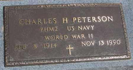 PETERSON, CHARLES H. (WW II) - Cedar County, Nebraska   CHARLES H. (WW II) PETERSON - Nebraska Gravestone Photos