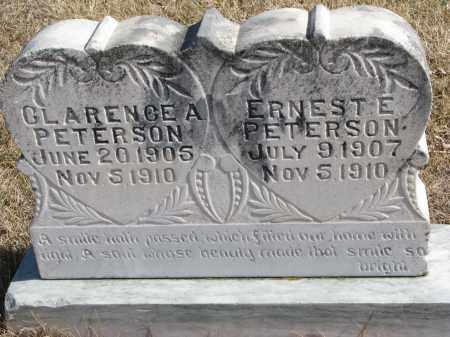 PETERSON, ERNEST E. - Cedar County, Nebraska | ERNEST E. PETERSON - Nebraska Gravestone Photos