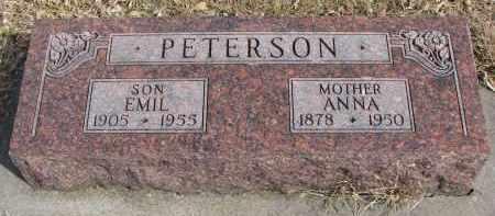 PETERSON, ANNA - Cedar County, Nebraska | ANNA PETERSON - Nebraska Gravestone Photos