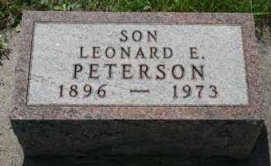 PETERSON, LEONARD E - Cedar County, Nebraska | LEONARD E PETERSON - Nebraska Gravestone Photos