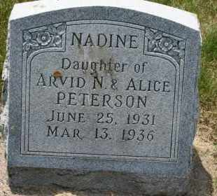 PETERSON, NADINE - Cedar County, Nebraska   NADINE PETERSON - Nebraska Gravestone Photos