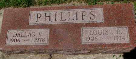 PHILLIPS, LOUISE R. - Cedar County, Nebraska | LOUISE R. PHILLIPS - Nebraska Gravestone Photos