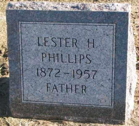 PHILLIPS, LESTER H. - Cedar County, Nebraska | LESTER H. PHILLIPS - Nebraska Gravestone Photos