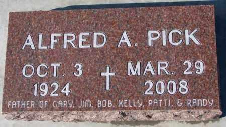PICK, ALFRED A. - Cedar County, Nebraska | ALFRED A. PICK - Nebraska Gravestone Photos