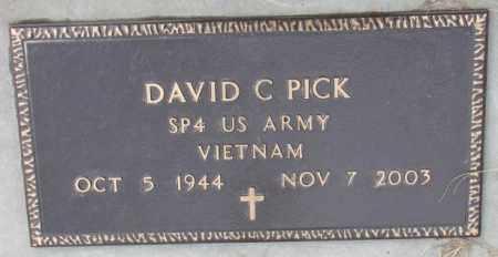 PICK, DAVID C. (MILITARY MARKER) - Cedar County, Nebraska | DAVID C. (MILITARY MARKER) PICK - Nebraska Gravestone Photos