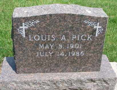 PICK, LOUIS A. - Cedar County, Nebraska | LOUIS A. PICK - Nebraska Gravestone Photos