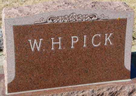 PICK, W.H. - Cedar County, Nebraska | W.H. PICK - Nebraska Gravestone Photos