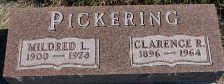 PICKERING, CLARENCE R. - Cedar County, Nebraska | CLARENCE R. PICKERING - Nebraska Gravestone Photos