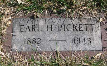 PICKETT, EARL H. - Cedar County, Nebraska | EARL H. PICKETT - Nebraska Gravestone Photos
