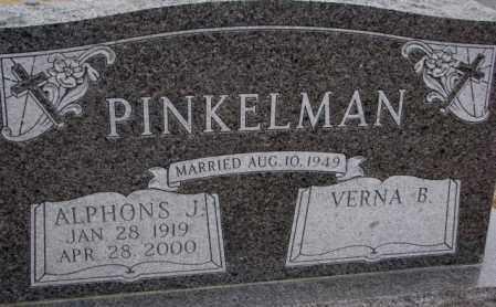 PINKELMAN, ALPHONS J. - Cedar County, Nebraska | ALPHONS J. PINKELMAN - Nebraska Gravestone Photos