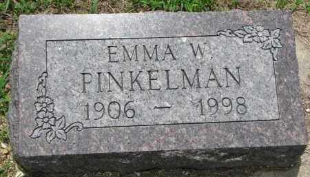 PINKELMAN, EMMA W. - Cedar County, Nebraska   EMMA W. PINKELMAN - Nebraska Gravestone Photos