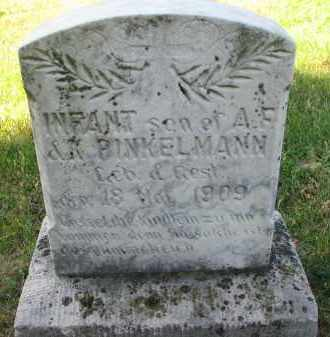 PINKELMAN, INFANT SON - Cedar County, Nebraska | INFANT SON PINKELMAN - Nebraska Gravestone Photos