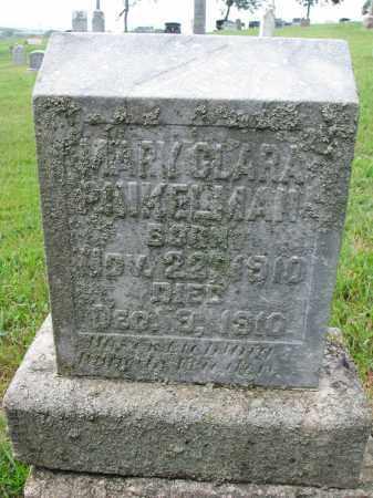 PINKELMAN, MARY CLARA - Cedar County, Nebraska | MARY CLARA PINKELMAN - Nebraska Gravestone Photos