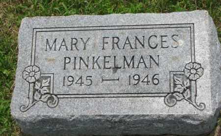 PINKELMAN, MARY FRANCES - Cedar County, Nebraska   MARY FRANCES PINKELMAN - Nebraska Gravestone Photos