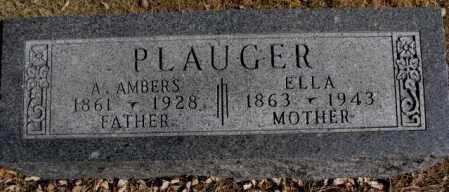 PLAUGER, A. AMBERS - Cedar County, Nebraska | A. AMBERS PLAUGER - Nebraska Gravestone Photos