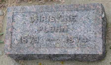 PLOHN, CHRISTINE - Cedar County, Nebraska | CHRISTINE PLOHN - Nebraska Gravestone Photos