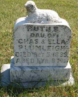 PLUMLEIGH, RUTH E. - Cedar County, Nebraska | RUTH E. PLUMLEIGH - Nebraska Gravestone Photos