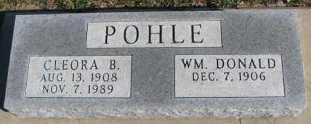 POHLE, WM. DONALD - Cedar County, Nebraska | WM. DONALD POHLE - Nebraska Gravestone Photos