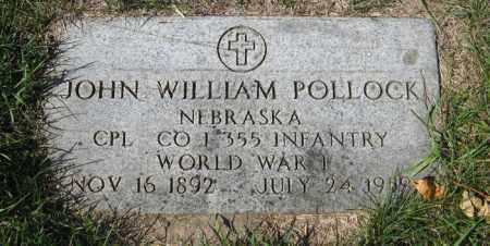 POLLOCK, JOHN WILLIAM - Cedar County, Nebraska   JOHN WILLIAM POLLOCK - Nebraska Gravestone Photos