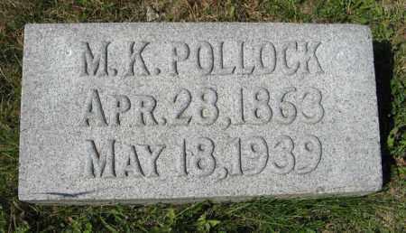 POLLOCK, M. K. - Cedar County, Nebraska | M. K. POLLOCK - Nebraska Gravestone Photos