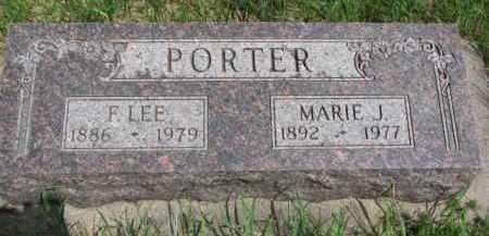 PORTER, F. LEE - Cedar County, Nebraska | F. LEE PORTER - Nebraska Gravestone Photos