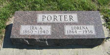 PORTER, LORENA - Cedar County, Nebraska | LORENA PORTER - Nebraska Gravestone Photos