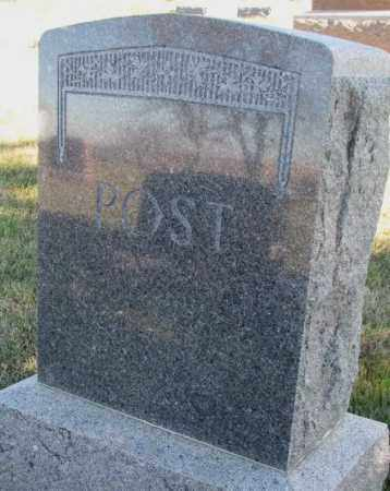 POST, PLOT - Cedar County, Nebraska | PLOT POST - Nebraska Gravestone Photos