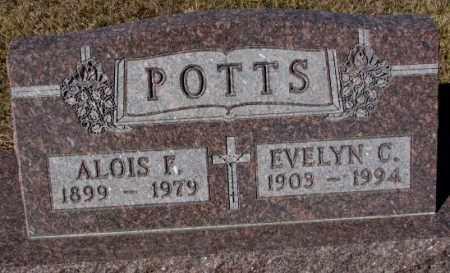 POTTS, ALOIS F. - Cedar County, Nebraska | ALOIS F. POTTS - Nebraska Gravestone Photos