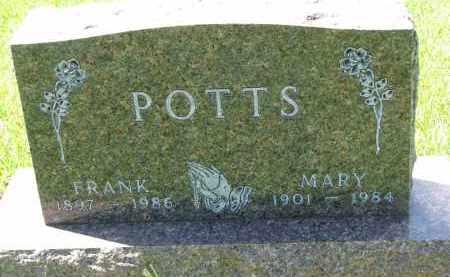 POTTS, MARY - Cedar County, Nebraska   MARY POTTS - Nebraska Gravestone Photos