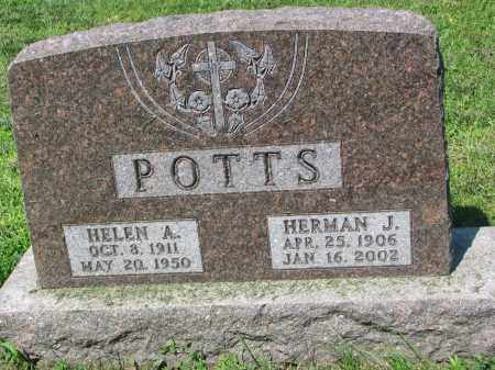 POTTS, HERMAN J. - Cedar County, Nebraska | HERMAN J. POTTS - Nebraska Gravestone Photos