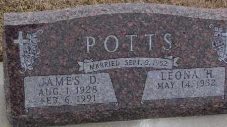 POTTS, LEONA H. - Cedar County, Nebraska | LEONA H. POTTS - Nebraska Gravestone Photos