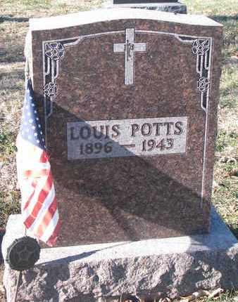 POTTS, LOUIS - Cedar County, Nebraska | LOUIS POTTS - Nebraska Gravestone Photos