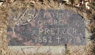 PRETZER, GEORGE H. - Cedar County, Nebraska | GEORGE H. PRETZER - Nebraska Gravestone Photos