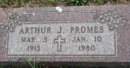 PROMES, ARTHUR J. - Cedar County, Nebraska   ARTHUR J. PROMES - Nebraska Gravestone Photos