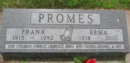 PROMES, FRANK - Cedar County, Nebraska | FRANK PROMES - Nebraska Gravestone Photos