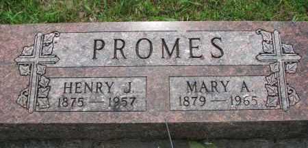PROMES, HENRY J. - Cedar County, Nebraska | HENRY J. PROMES - Nebraska Gravestone Photos