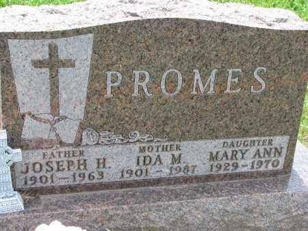 PROMES, IDA M. - Cedar County, Nebraska | IDA M. PROMES - Nebraska Gravestone Photos