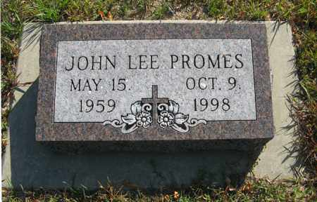 PROMES, JOHN LEE - Cedar County, Nebraska | JOHN LEE PROMES - Nebraska Gravestone Photos